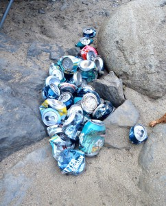Craft beers enjoyed & ready for recycling.