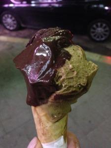 My favorite gelato flavors: cioccolato and caffe.