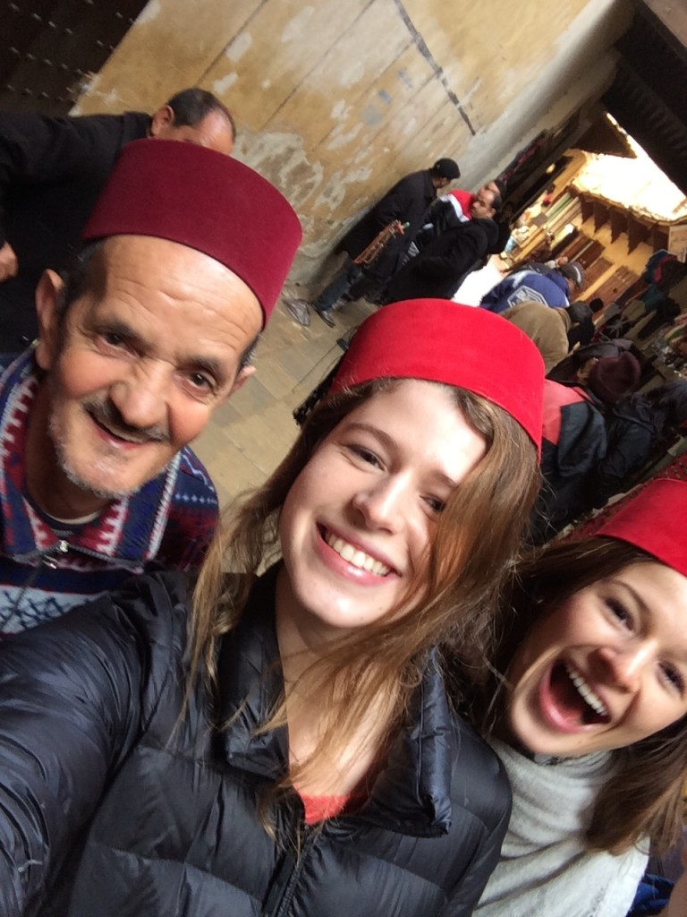 Buying fez hats in...Fez.