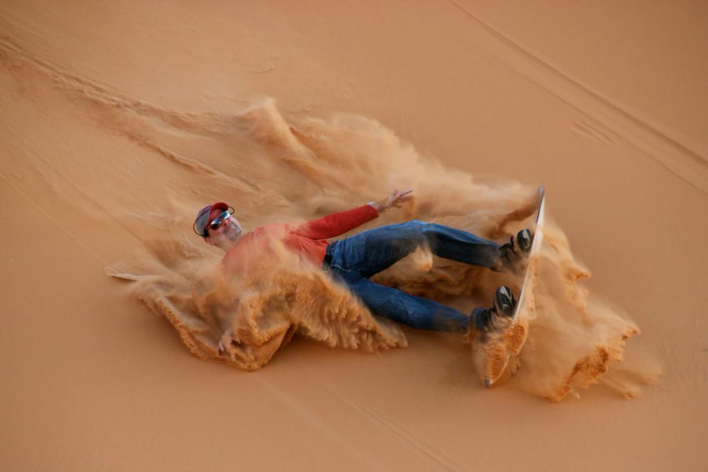 A dusty fall.