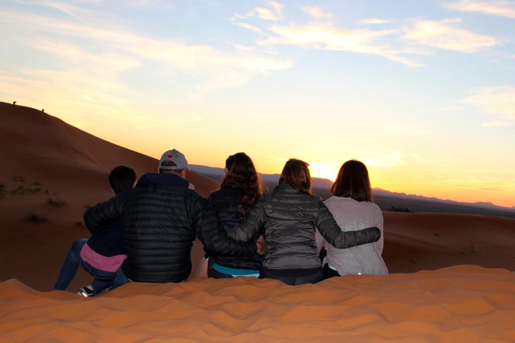 Saharan sunset.