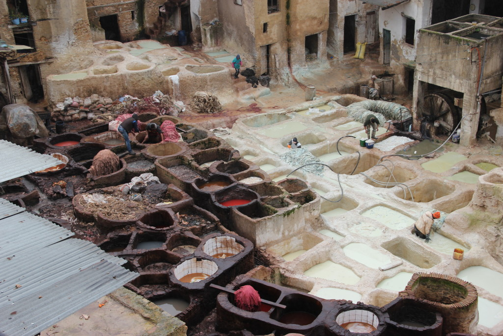 A leather tannery.