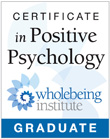 Caren Osten has a certificate in Positive Psychology from the Wholebeing Institute